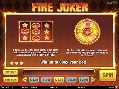 Fire Joker Paytable1