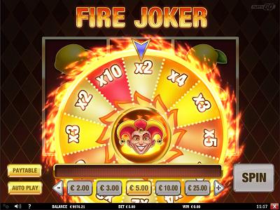 Fire Joker Wheel of Multipliers